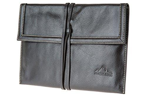 Alpenleer Tablet Cover KRUMBACH 10 inch | Echt buffelleder | Documentenmap kantoor iPad Galaxy Tab 27,5 cm x 18,5 cm x 0,5 cm ebbenhout