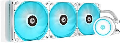 ID-COOLING AURAFLOW X 360 Snow CPU Water Cooler RGB AIO Cooler 360mm CPU Liquid Cooler 3X 120mm RGB Fan, Intel 115X/1...