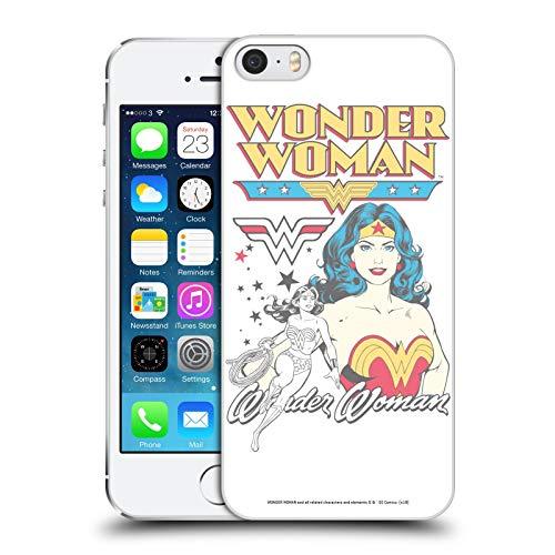 Head Case Designs Licenza Ufficiale Wonder Woman DC Comics Bianco Arte Vintage Cover Dura per Parte Posteriore Compatibile con Apple iPhone 5 / iPhone 5s / iPhone SE 2016