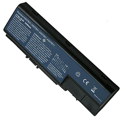 Bay Valley Parts 6-Cell 10.8V 5200mAh New Replacement Laptop Battery for Acer AS07B31 AS07B51 AS07B41 AS07B42 AS07B32 AS07B61 AS07B71 AS07B72 AS07B52 ICL50 ICY70 ICW50, Acer Aspire 5920 5315 5520