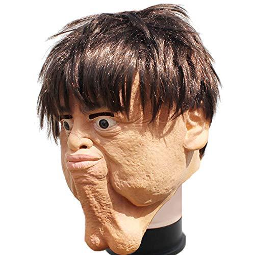YSAGNZQ rol spelen dubbele kin ei spoof latex gezicht maskers