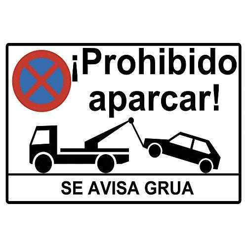 Cartel prohibido aparcar o placa prohibido aparcar.Forex PVC