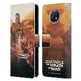 Head Case Designs sous Licence Officielle Star Trek La Colère De Khan Affiches de Film TOS Coque en Cuir à Portefeuille Compatible avec Xiaomi Redmi Note 9T 5G