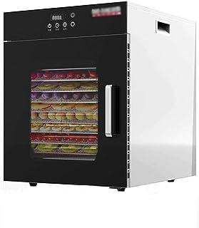 Liten dörrautomat, 400 W, professionell grönsaksvatten med digital tidbrytare och temperaturreglering (6 surfplattor), svart