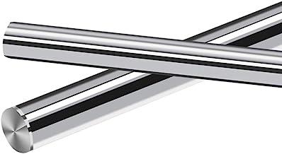 2PCS Linear Motion Guide Rail/Shaft/Rod 6mm 8mm 10mm Diameter,Surface Hardened Chrome Treatment, Metric G6 Tolerance,0.393x17.7inch(10mmX450mm)