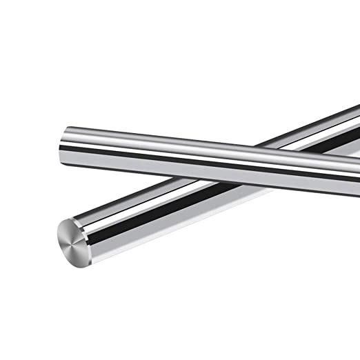 .315 x 9.84 Case Hardened Chrome Plated Linear Motion Rod//Shaft // Guide Metric h8 Tolerance ReliaBot 2PCs 8mm x 250mm