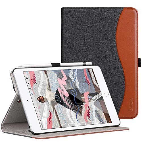 Ztotop iPad Mini5 2019 ケース 高級PUレザー製 オートスリープ機能 ペンシル収納 カードポケット付き 手帳...