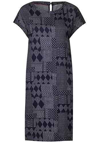 Cecil Damen 142398 Nette Kleid, deep Blue, X-Large (Herstellergröße:XL)