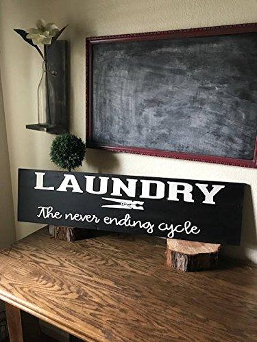 Norma Lily Wäschekorb Laundry The Never Ending Zyklus Laundry Room Schild Farmhouse Wäsche Schild Einzugs Geschenk Verlobung Geschenk Hochzeit Geschenk