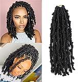 4 Packs Butterfly Locs Crochet Hair 12 Inch Pre Looped Distressed Locs Crochet Braids
