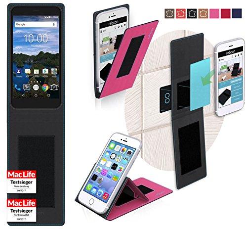 reboon Hülle für BlackBerry Aurora Tasche Cover Case Bumper | Pink | Testsieger