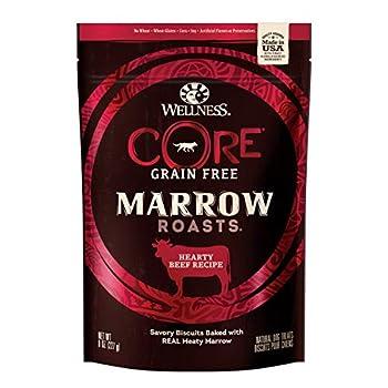 Wellness Core Marrow Roasts Natural Grain Free Dog Treats Beef 8-Ounce Bag