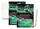 Crafting Mania LLC. 12 Star Wars Birthday Invitation Cards (12 White Envelops Included) #1