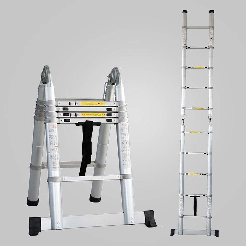 Aluminum Telescopic Ladder,Telescoping AType Extension Multi Purpose Engineering Ladder for Decoration Outdoor Indoor Portable Compact