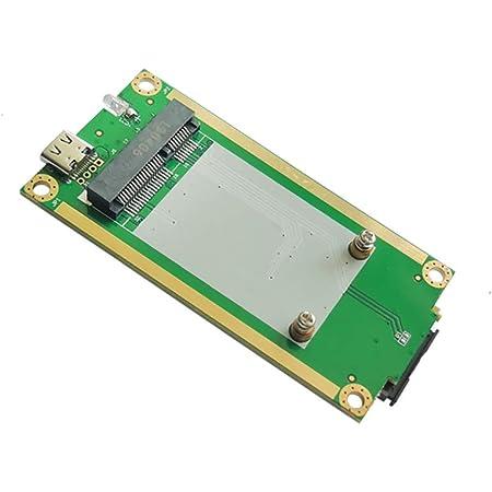 EXVIST 4G LTEインダストリアルミニPCIe to USB(タイプC 3.1)アダプターW/SIMカードスロット WWAN/LTE 3G/4Gモジュール用 M2M & IoTアプリケーション用 Raspberry Pi産業用ルーター IPカメラデジタルサイネージなど