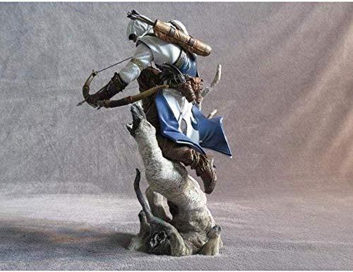 KIJIGHG Figurine Assassin s Creed 3 Connor Hunter PVC Anime Figura Figuras de accin Anime Modelo de Personaje
