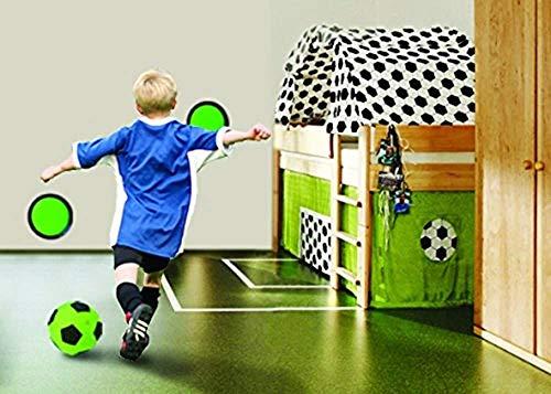 Bavaria Home Style Collection Torwand fürs Kinderzimmer - Torwand fürs Kinderzimmer - mit 2 selbstklebenden Zielteller - 1 Indoor Fussball Gr. 5 - Ganzjahresartikel, da für drinnen gut geeignet!