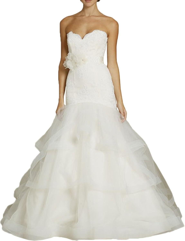 Avril Dress Sweetheart Mermaid Layered Satin Wedding Dress Train Sash