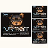 Nutriment Puppy Raw Food (Starter Pack of 10 Trays) - Complete Frozen Raw Diet Wet Puppy Formula Food, Grain-Free, Natural, Balanced & Rich in Nutrients, High Meat Content, from 6 Weeks - 5kg