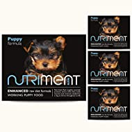 NUTRIMENT ENHANCED RAW DIET WORKING PUPPY Raw Food (10 Tray Starter Pack) Frozen, Complete Premium B...