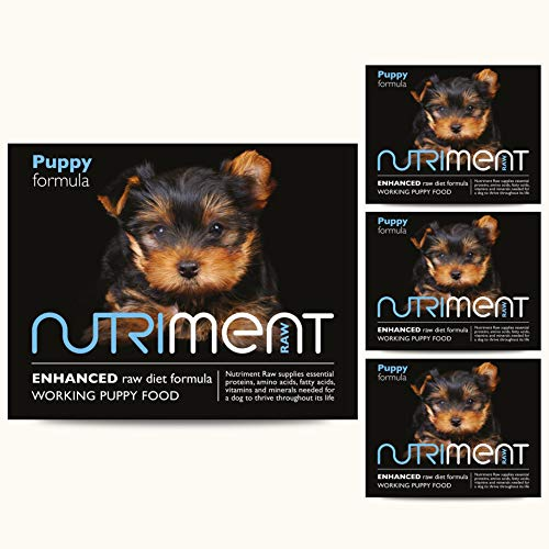 Nutriment Puppy Raw Food (Starter Pack of 10 Trays) - Complete Frozen Raw...