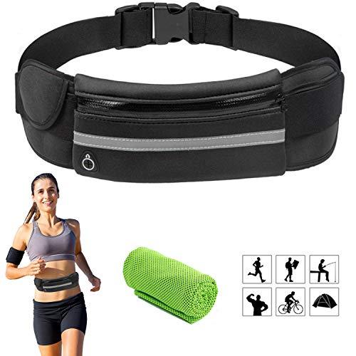Marsupio Sportivo Impermeabile Running Porta Cellulare Donna Uomo con Tasca Cintura da Corsa - per Portafoglio Chiavi iPhone X
