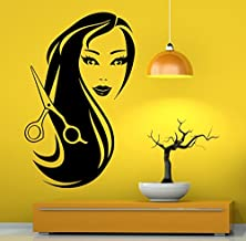 Hair Beauty Salon Wall Decal Vinyl Sticker Hairstyle Housewares Art Wall Removable Decor (8hsl)