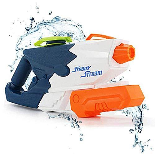 DYB Größte Wasserpistole Wasserpistole Pumpe 8m entfernt Wasserpistole Spritzpistolen 1L Outdoor Beach Garden Wasserschlacht für Kinder Erwachsene 1000 ML