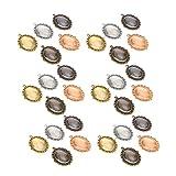 Metal Base colgante de metal + vidrio, para colgantes en relieve, para joyería personalizada