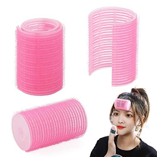 2PCS Hair Roller Bangs Hair Curlers For Double-Layer Bangs Self-Adhesive Hair Bangs Curling Styling Tools Hairdressing Curlers For Styling Curtain Bangs And Layers (pink)