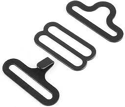 TOPINCN 50 Sets Bow Tie Hardware Cravat Clip Electroplated Metal Adjustable Hook Fastener for Necktie Strap Black Color