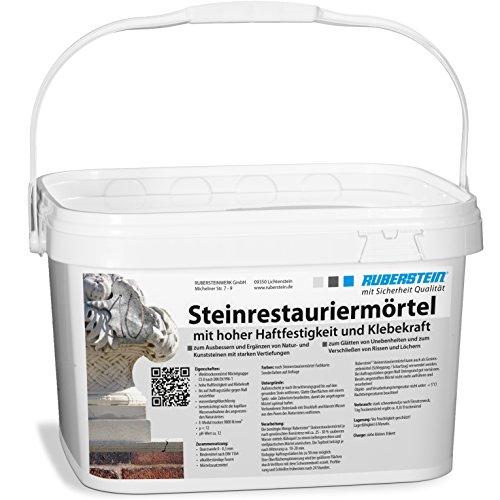 Steinrestauriermörtel/Reparaturmörtel/Mörtel für Sandstein 10 kg im Eimer (klinkerrot)