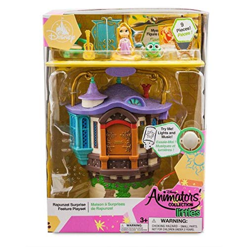 Disney Store Rapunzel Micro Spielset, Disney Animators' Collection Littles - Inklusive: Pascal und Maximus