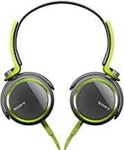 Sony MDRXB400/GRN Extra Bass Over The Head 30mm Driver Headphone, Green