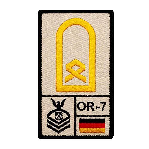 Café Viereck ® Hauptbootsmann Marine B&eswehr Rank Patch mit Dienstgrad - Gestickt mit Klett – 9,8 cm x 5,6 cm