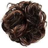 PRETTYSHOP Postizo Coletero Peinado alto, VOLUMINOSO, rizado, Moño descuidado mezcla marrón #2T30B G9E