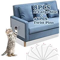 8.Pack Gamurry Clear Cat Scratch Furniture Protector Pads