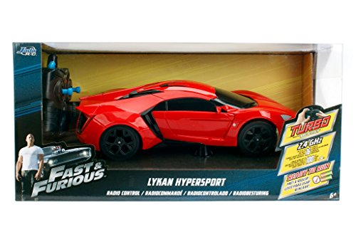 NEW 1:16 W/B JADA TOYS RADIO CONTROL CAR COLLECTION - FAST & FURIOUS - RED LYKAN HYPERSPORT R/C Radio Control Car By Jada Toys