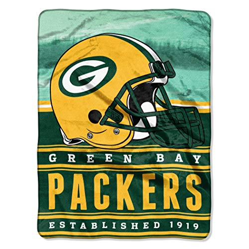 """Officially Licensed NFL Green Bay Packers """"Stacked"""" Silk Touch Throw Blanket, 60"""" x 80"""", Multi Color"""