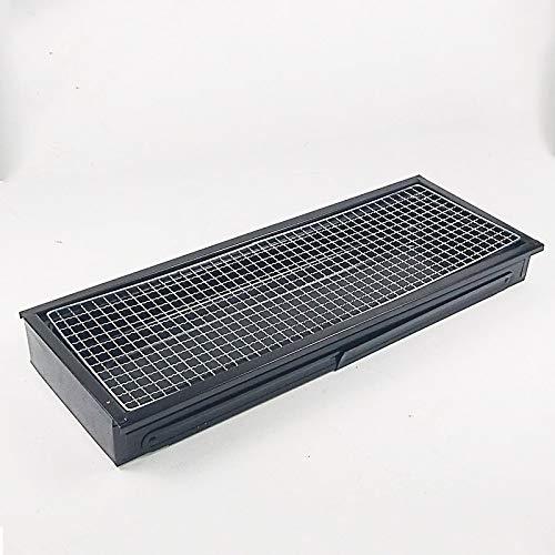 518vgBfxpbL. SL500  - Kunyun Tragbarer Holzkohlegrill – klappbarer Edelstahl-Grill Campinggrill (Farbe: Schwarz, Größe: 60 x 22 x 33)