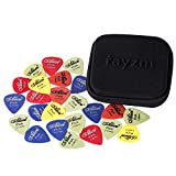 Rayzm Guitar Picks Médiators - Delrin Médiators 50pcs pour Guitare Basse 0,49/,58/,71/,89/,98/1,12mm