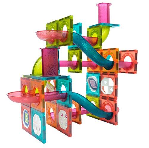 Lemmy Magnetische Bausteine 110PCS, Große Konstruktion Bausteine Set,Spielzeug für Kinder ab 4 Jahre, Lernspielzeug für Mädchen Jungen Geschenk