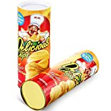 Gejoy 2 Pack Potato Chip Snake Cans Jump Spring Snake Toy Prank Jokes in A Can Gag Gift Snake Trick Toy Potato Chip Can Funny for April Fool Day Halloween Party Decoration Spring Party Supplies