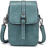 Handtasche Damen Kleine Umhängetasche Crossbody Handytasche Phone Bag für Damen Frauen Mädchen Leder Einfarbig Kartenhalter Schulter Brieftasche Shopper Handy Tasche