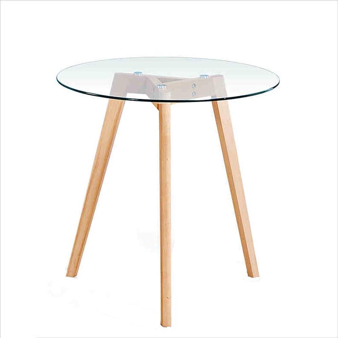 皮肉方程式急流SYF 家庭用強化ガラス小丸テーブルレセプションデスク北欧シンプルな木製丸テーブル A+ (サイズ さいず : 70cm)