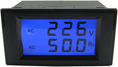 Voltage Frequency Meter, Yeeco AC 80-300V 45-65.0Hz LCD Display Digital AC Voltage Frequency Meter Frequency Counter Tester Gauge Monitor Panel