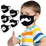 Kinder Anime cartoon, lustiger mundschutz,lustige motive, Baumwolle Anti-Staub Mode Kawaii süße mundschutz wiederverwendbare schwarz mit motiv Jungen,mund und nasenschutz lustige motive(A)