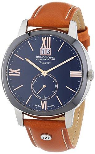 Bruno Söhnle Herren-Armbanduhr XL Analog Quarz Leder 17-73146-735