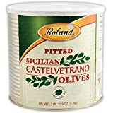 Roland Foods Castelvetrano Pitted Olives, Specialty Imported Food, 2 Lb 13.9 Oz Can...