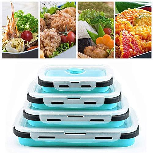 ToBe-U Siliconen Lunch Box Draagbare Inklapbare Vouwen voedsel Opslag Container Keuken Magnetron, Vaatwasser en Vriezer Kluis Huishoudelijke Picknick Box